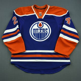 Hunt, Brad Blue Set 2 Edmonton Oilers 2014-15 #24 Size: 56