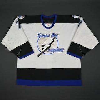 Clymer, Ben * White 2nd Regular Season Tampa Bay Lightning 2002-03 #7 Size: 56