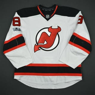 Bennett, Beau White Set 3 w/ NHL Centennial Patch New Jersey Devils