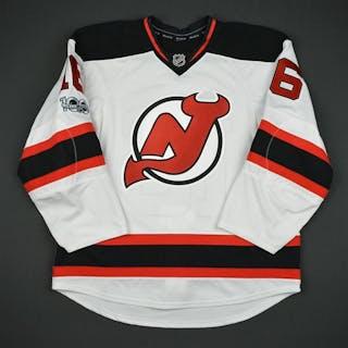 Josefson, Jacob White Set 3 w/ NHL Centennial Patch New Jersey Devils