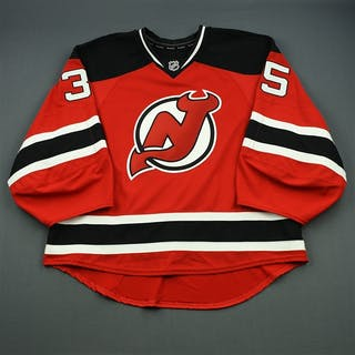 NNOB (No Name on Back) Red Set 1 - Game-Issued (GI) New Jersey Devils