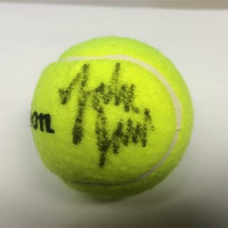 Isner, John Autographed Ball US Open 2012