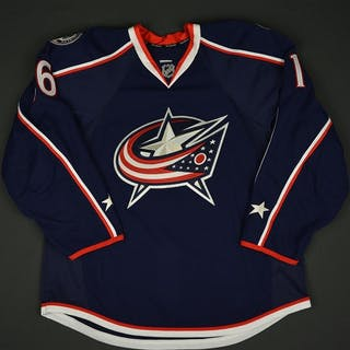 Brown, Mike Blue Set 1 - Game-Issued (GI) Columbus Blue Jackets 2016-17