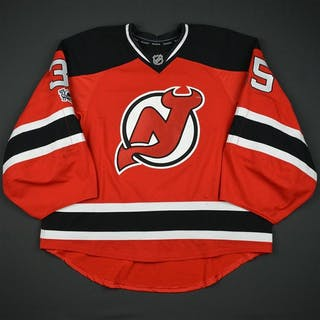 Schneider, Cory Red Set 3 w/ NHL Centennial Patch New Jersey Devils