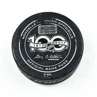 Columbus Blue Jackets Game-Used Puck January 7, 2017 vs. New York
