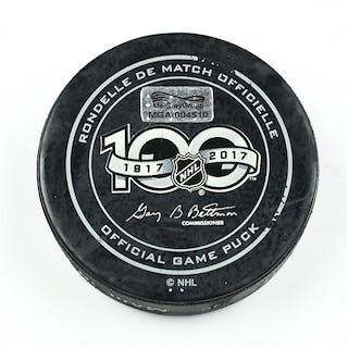 Columbus Blue Jackets Game-Used Puck January 19, 2017 vs. Ottawa Senators