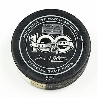 Columbus Blue Jackets Game-Used Puck February 4, 2017 vs. New Jersey