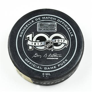 Columbus Blue Jackets Game-Used Puck February 15, 2017 vs. Toronto