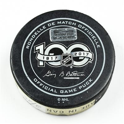 Columbus Blue Jackets Game-Used Puck February 25, 2017 vs. New York