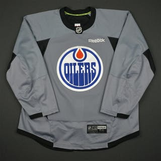Reebok Gray Practice Jersey Edmonton Oilers 2016-17 Size: 56
