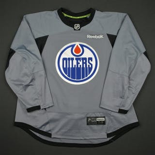 Reebok Gray Practice Jersey Edmonton Oilers 2016-17 Size: 58