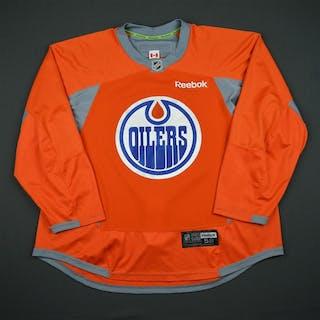 Reebok Orange Practice Jersey Edmonton Oilers 2016-17 Size: 58