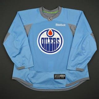 Reebok Light Blue Practice Jersey Edmonton Oilers 2016-17 Size: 58