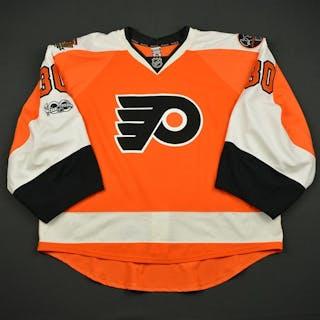 Neuvirth, Michal Orange Set 2 w/ NHL Centennial, Flyers 50th Anniversary