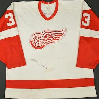 Racine, Yves * White Detroit Red Wings 1989-90 #33