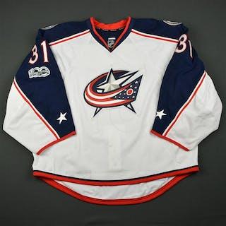 Forsberg, Anton White Set 2 w/ NHL Centennial Patch Columbus Blue