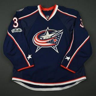 Jones, Seth Blue Set 2 w/ NHL Centennial Patch Columbus Blue Jackets