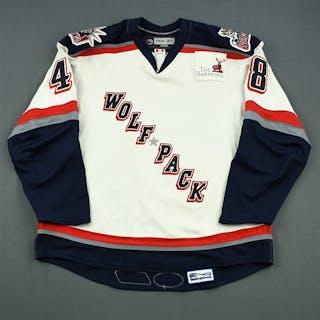 Zaborsky, Tomas White Set 2 Hartford Wolf Pack 2007-08 #48 Size: 56