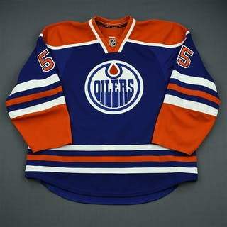 Eager, Ben Blue Retro Set 1 - Game-Issued (GI) Edmonton Oilers 2012-13