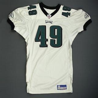 Parry, Josh * White Philadelphia Eagles 2005 #49 Size: 50-S