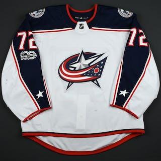 Bobrovsky, Sergei White Set 1 w/ NHL Centennial Patch Columbus Blue