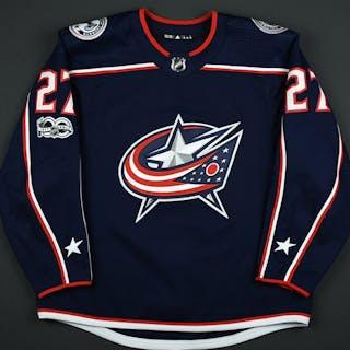 Murray, Ryan Blue Set 1 w/ NHL Centennial Patch Columbus Blue Jackets