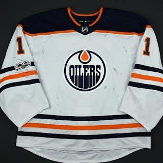 Brossoit, Laurent White Set 1 w/ NHL Centennial Patch Edmonton Oilers