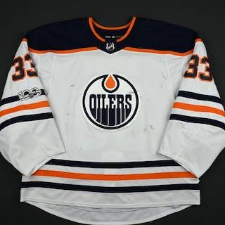 Talbot, Cam White Set 1 w/ NHL Centennial Patch Edmonton Oilers 2017-18