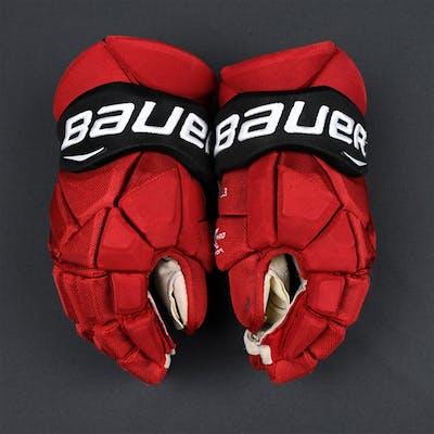 Boyle, Brian Bauer Vapor 1X Gloves New Jersey Devils 2017-18
