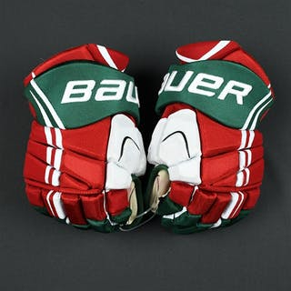 Brunner, Damian Bauer Vapor APX Gloves (Retro Colors) New Jersey Devils 2013-14