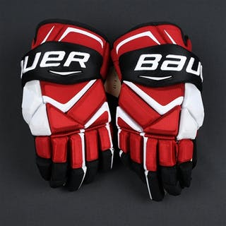 Gazdic, Luke Bauer Vapor 1X Gloves New Jersey Devils 2016-17