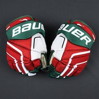 Larsson, Adam Bauer Vapor APX2 Gloves (Retro Colors) New Jersey Devils 2014-15