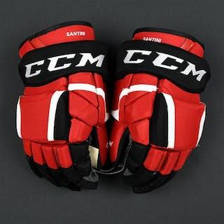 Santini, Steven CCM Gloves New Jersey Devils 2016-17