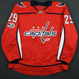 Djoos, Christian Red Set 1 w/ NHL Centennial Patch Washington Capitals