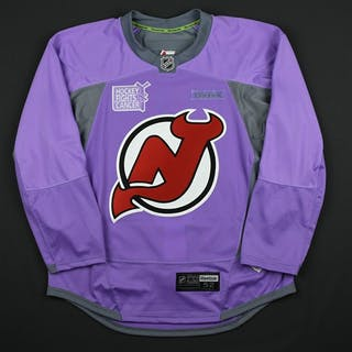 Blank - No Name or Number Lavender Hockey Fights Cancer Warm-Up -
