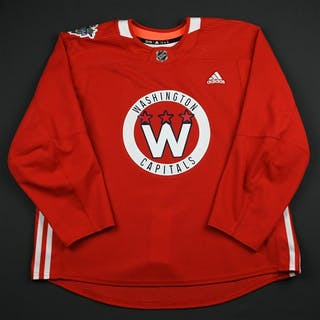 adidas Red - Stadium Series Practice Jersey - Game-Issued (GI) Washington