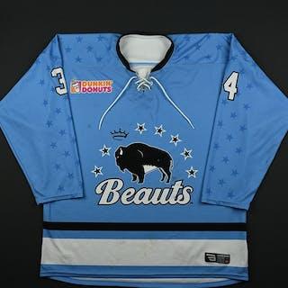 DiTondo, Julia Blue Set 1 Buffalo Beauts 2017-18 #34 Size: XL