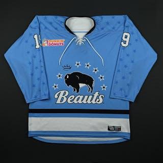Schroka, Kaylyn Blue Set 1 Buffalo Beauts 2017-18 #19 Size: LG
