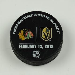 Vegas Golden Knights Warmup Puck February 13, 2018 vs. Chicago Blackhawks