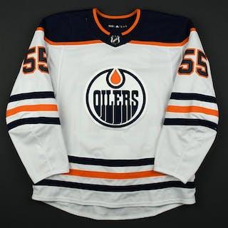 Letestu, Mark White Set 3 Edmonton Oilers 2017-18 #55 Size: 56