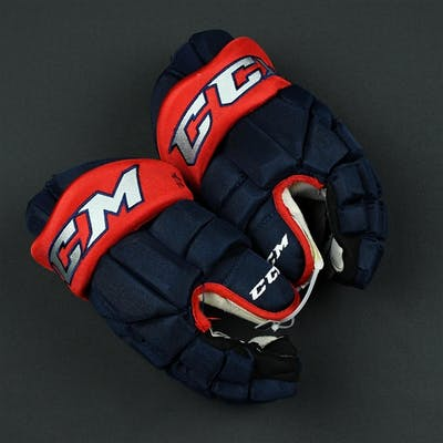 Anderson, Josh CCM HGTK Gloves Columbus Blue Jackets 2017-18 #77 Size: 14""