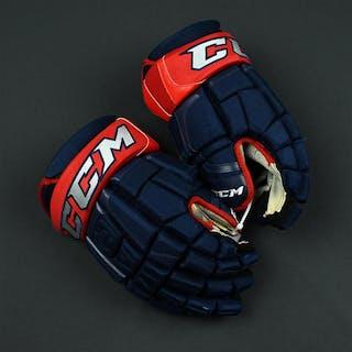 "Jones, Seth CCM Pro Gloves Columbus Blue Jackets 2017-18 #3 Size: 15"""