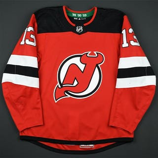 Hischier, Nico Red Set 2A New Jersey Devils 2017-18 #13 Size: 54