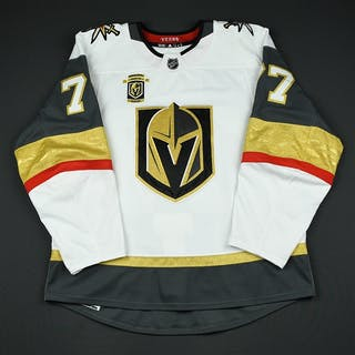 Hunt, Brad White Set 3 w/ Inaugural Season Patch Vegas Golden Knights