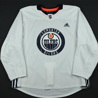 adidas White Practice Jersey Edmonton Oilers 2017-18 Size: 56