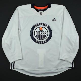 adidas White Practice Jersey Edmonton Oilers 2017-18 Size: 58