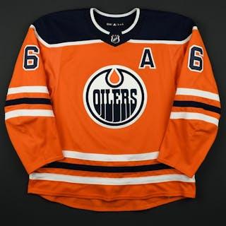 Larsson, Adam Orange Set 2 w/A Edmonton Oilers 2017-18 #6 Size: 58