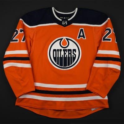 Lucic, Milan Orange Set 2 w/A Edmonton Oilers 2017-18 #27 Size: 58