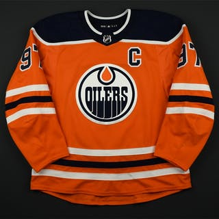 McDavid, Connor Orange Set 2A w/C Edmonton Oilers 2017-18 #97 Size: 56