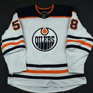 Slepyshev, Anton White Set 3 Edmonton Oilers 2017-18 #58 Size: 56